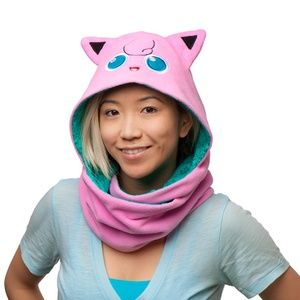 Pokemon Jigglypuff Hooded Reversible Scarf Hood